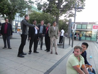 The CORFU teams from Bangladesh, UK, Germany, France, Spain visiting the City of Hamburg